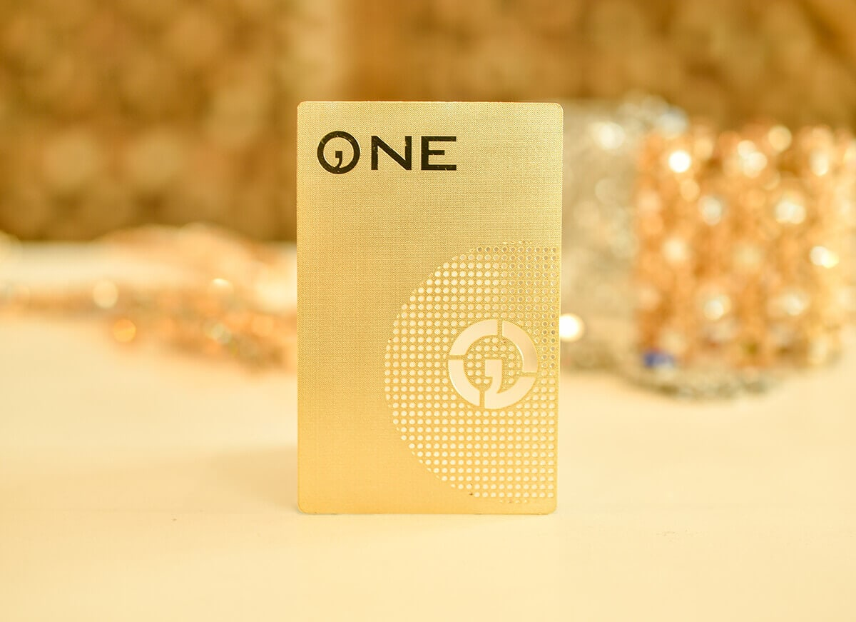 Gold Metal Cards
