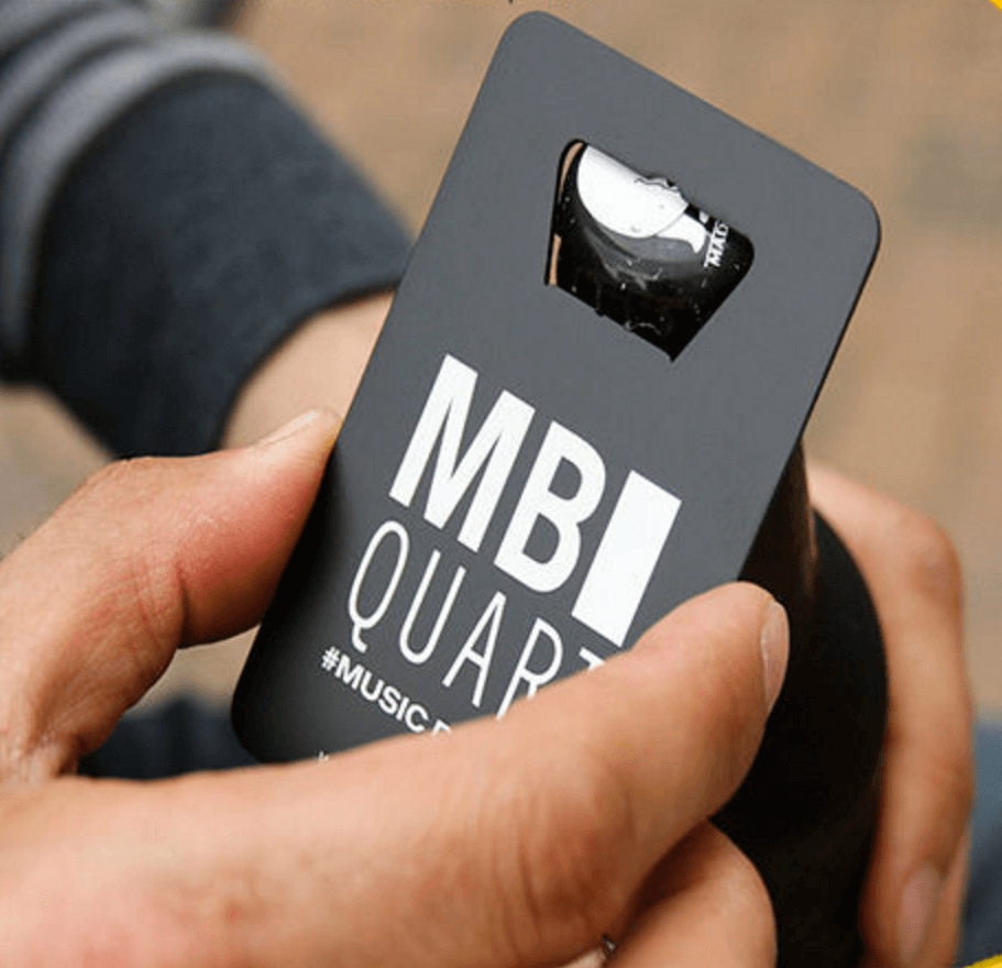 pick your quantity 100 cards - Bottle Opener Business Cards