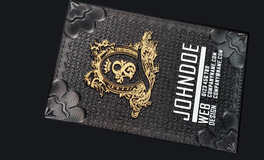 Black Metal Business Card