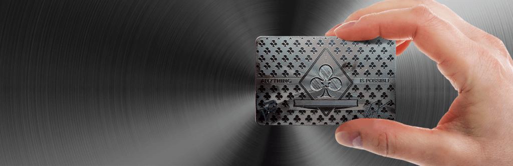 Printed Black Metal Card