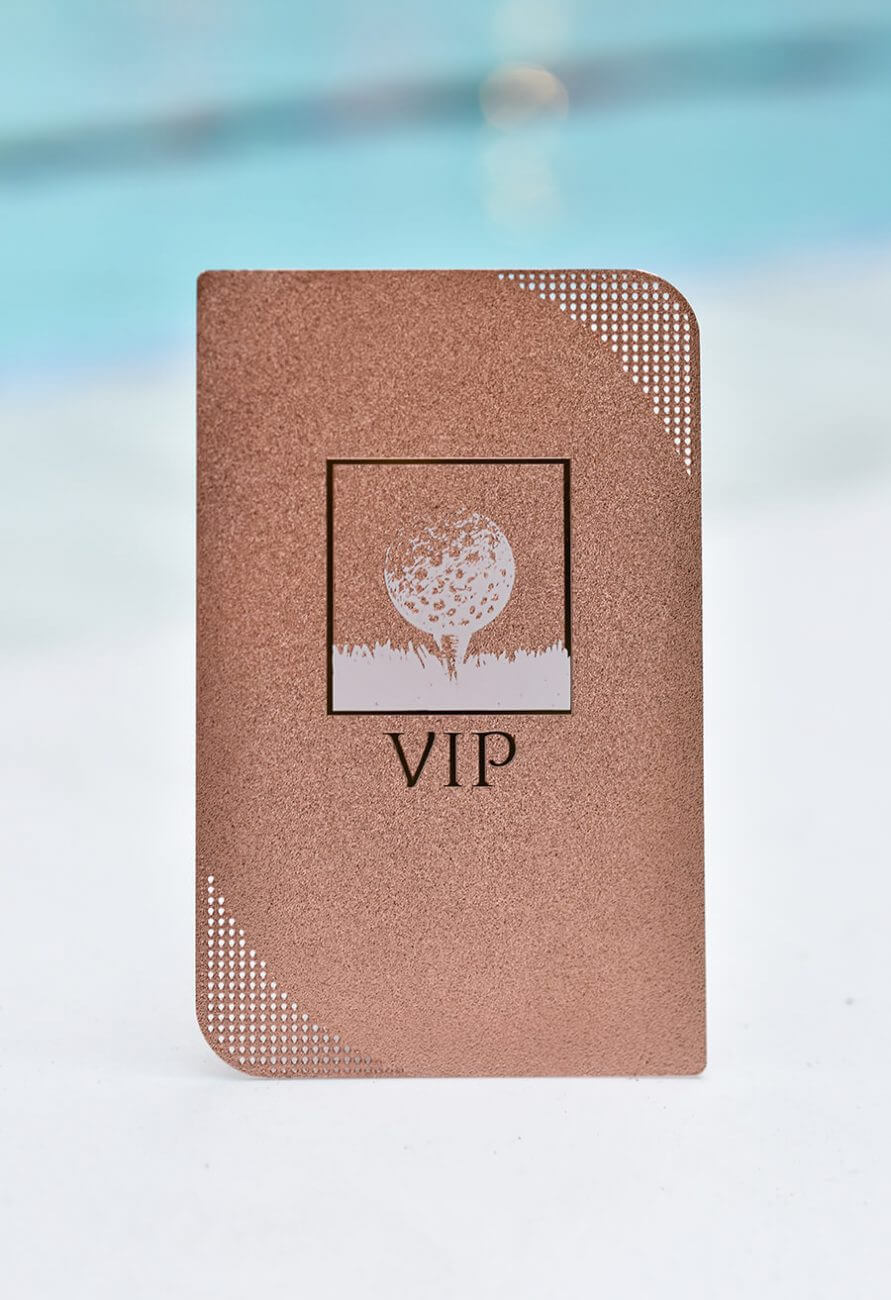 Rose Gold Metal Cards
