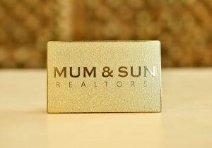 Gold Metal Card