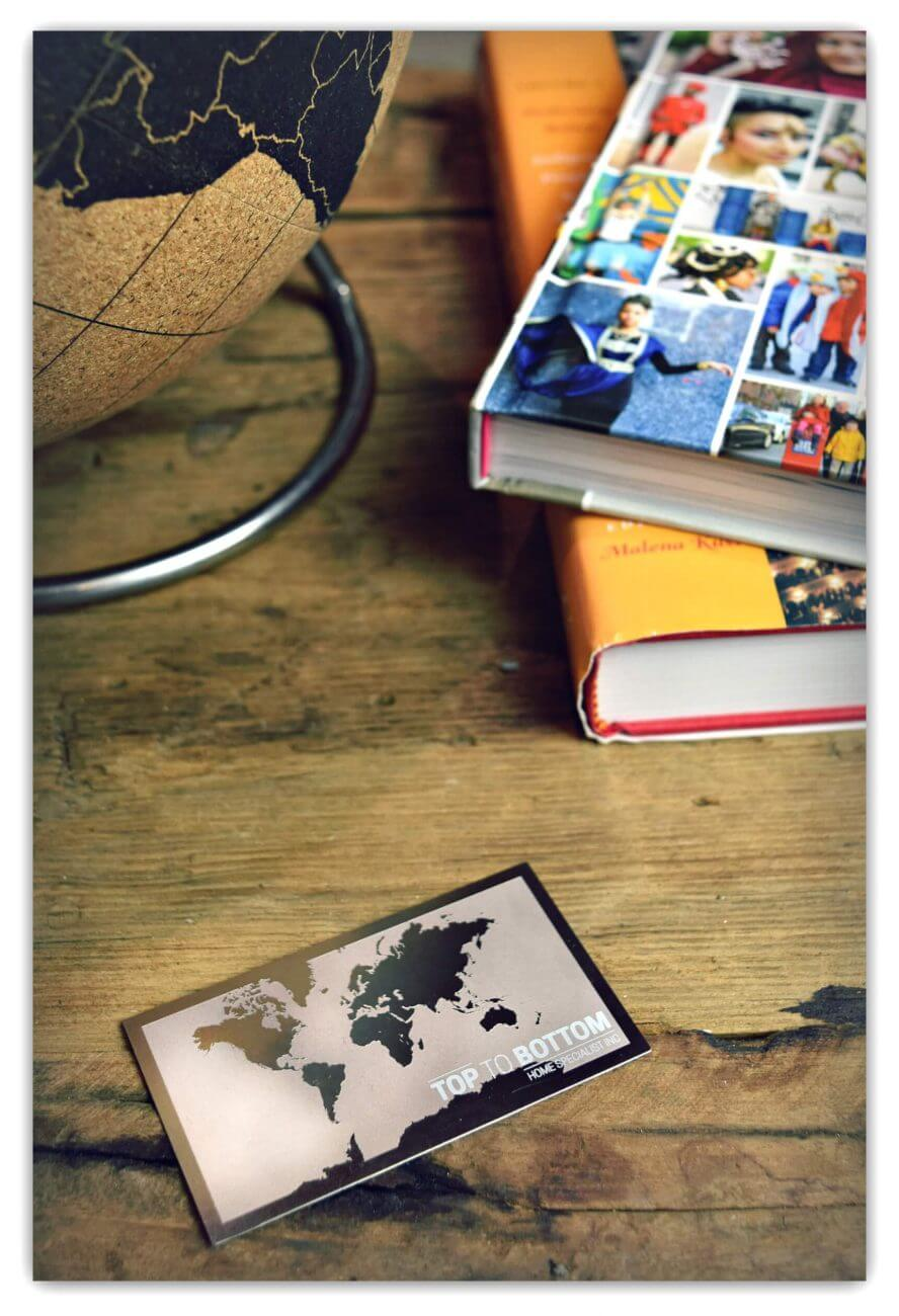 World Traveler Stainless Business Card