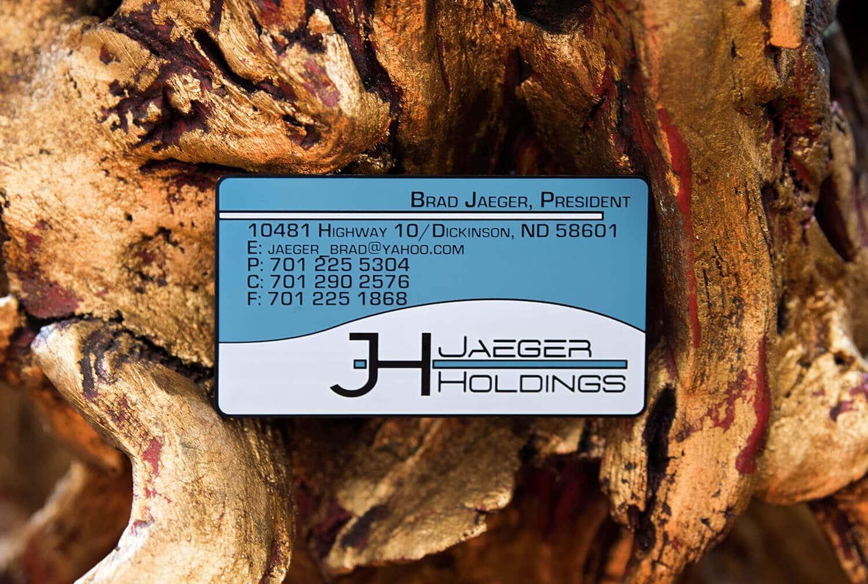 Jaeger Holdings Metal Cards