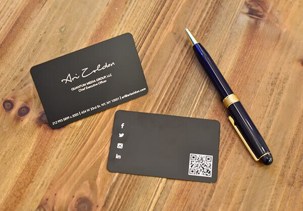 blog metal business cards