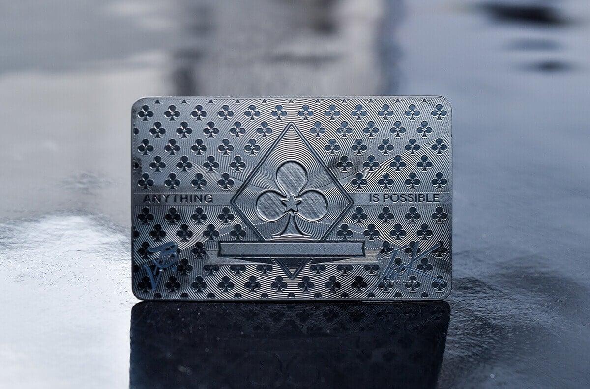 Gunmetal Black Cards
