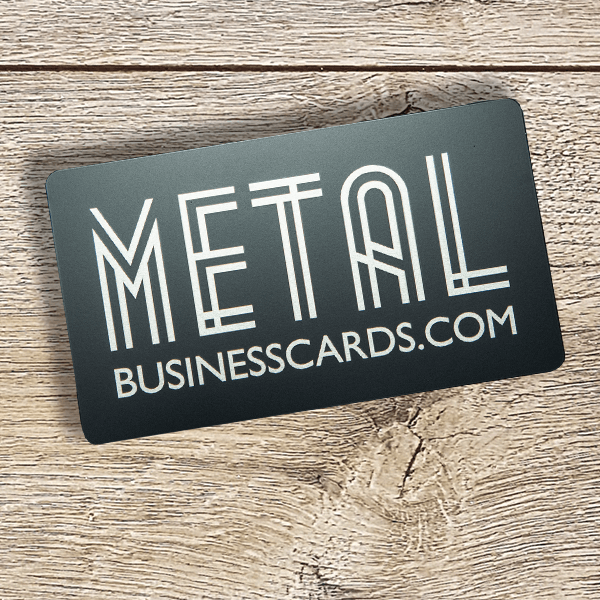 Quick Metal Card Solid Black