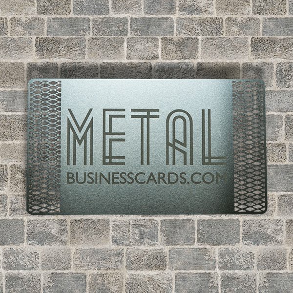 Quick Metal Card Silver Cutout
