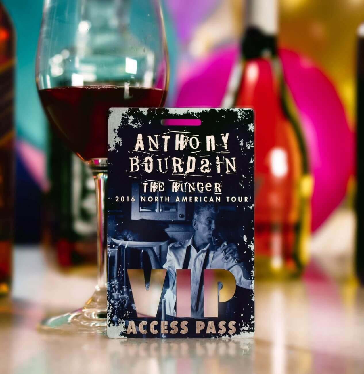 Metal VIP Pass - Anthony Bourdain