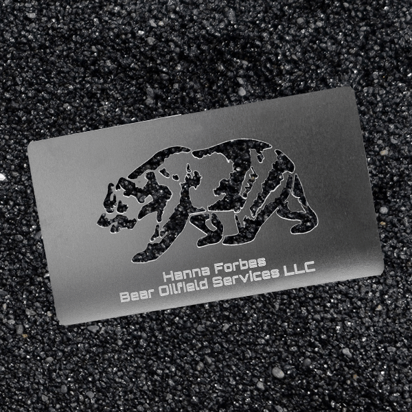 Stainless Steel Business Card - Bear Oilfield