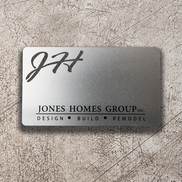 Stainless Steel Business Card - Jones Homes