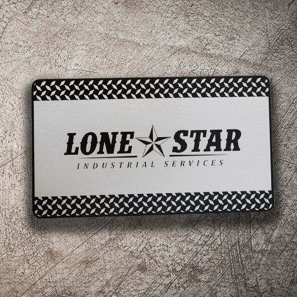 Stainless Steel Business Card - Lonestar Industrial Services
